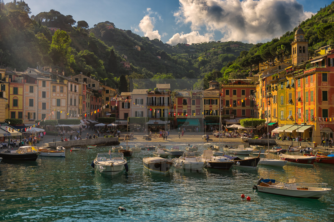"""The magic of Portofino ..."" stock image"