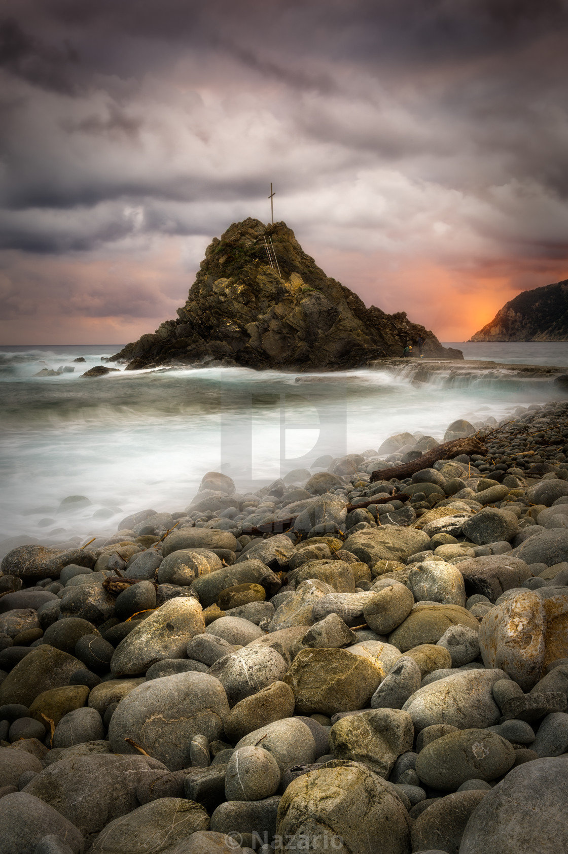 """Riva Trigoso - Ligurian Coast"" stock image"
