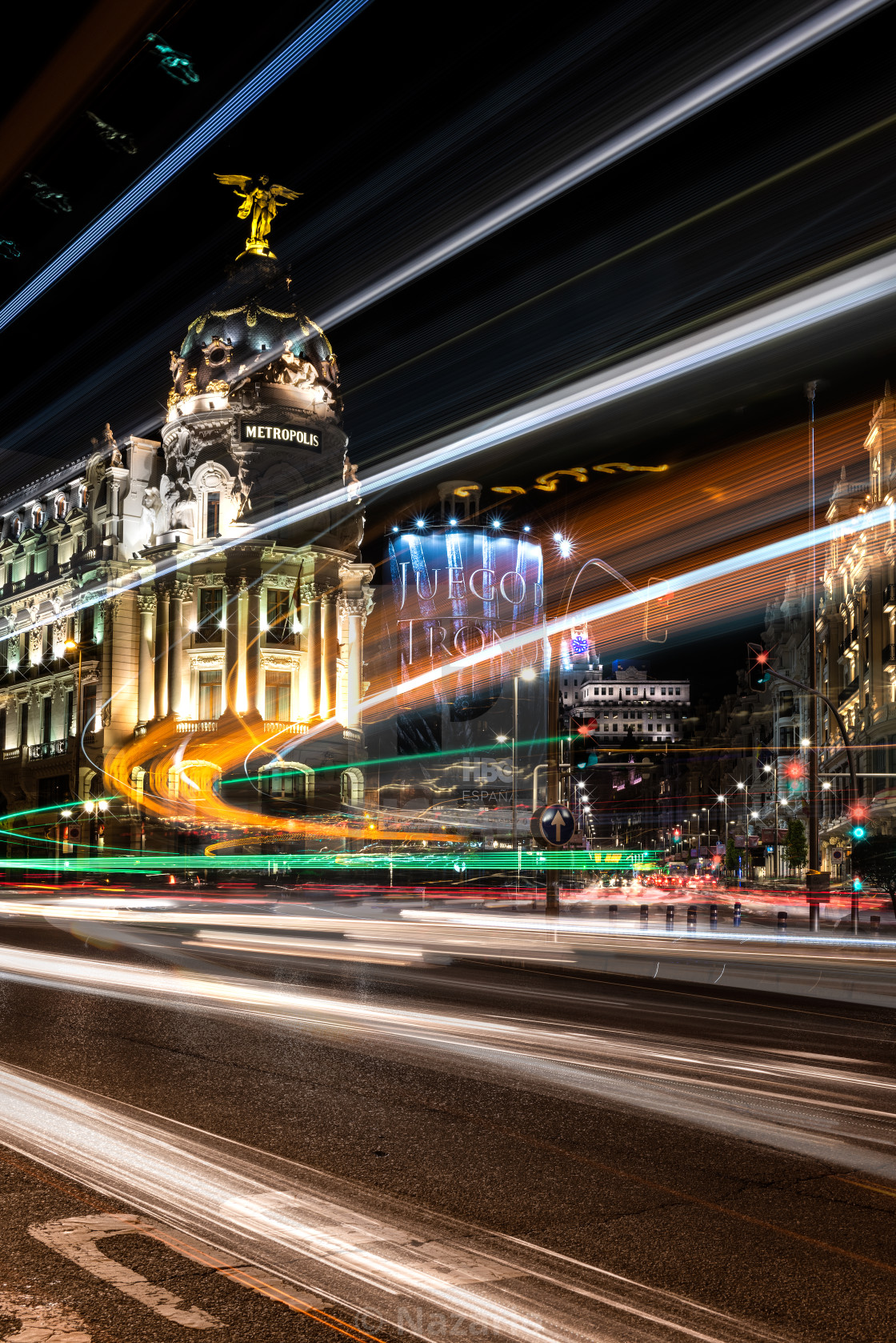 """Metropolis - Madrid"" stock image"