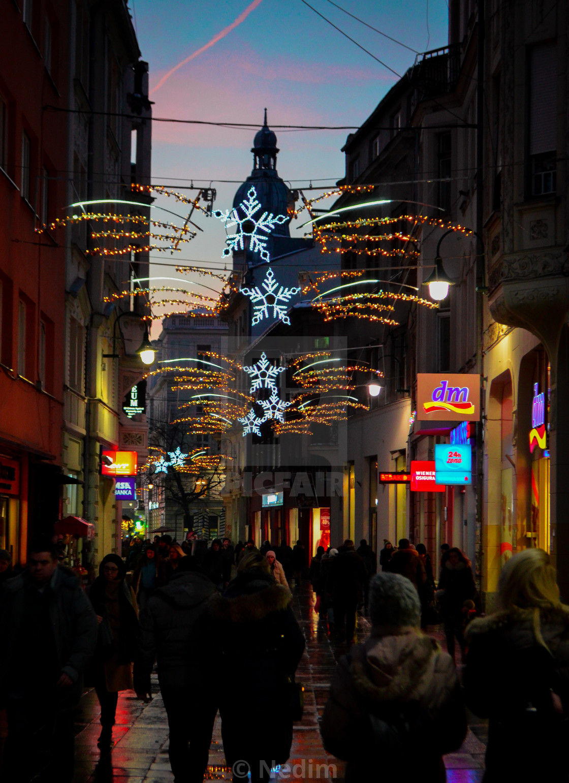 Christmas In Sarajevo.Christmas Lights License Download Or Print For 7 44