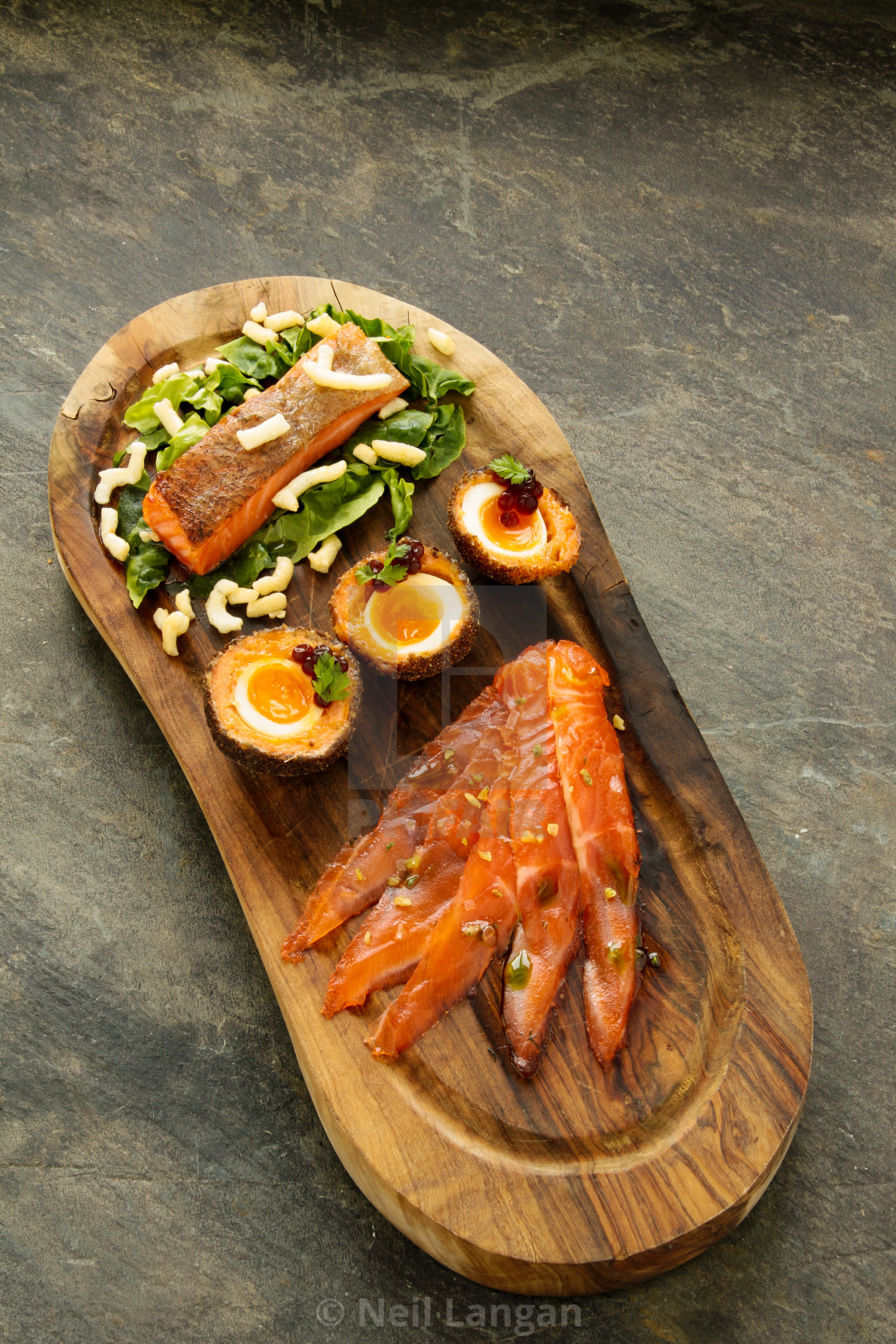 Mixed Sea Trout Salmon Platter License Download Or Print For 1 55 Photos Picfair