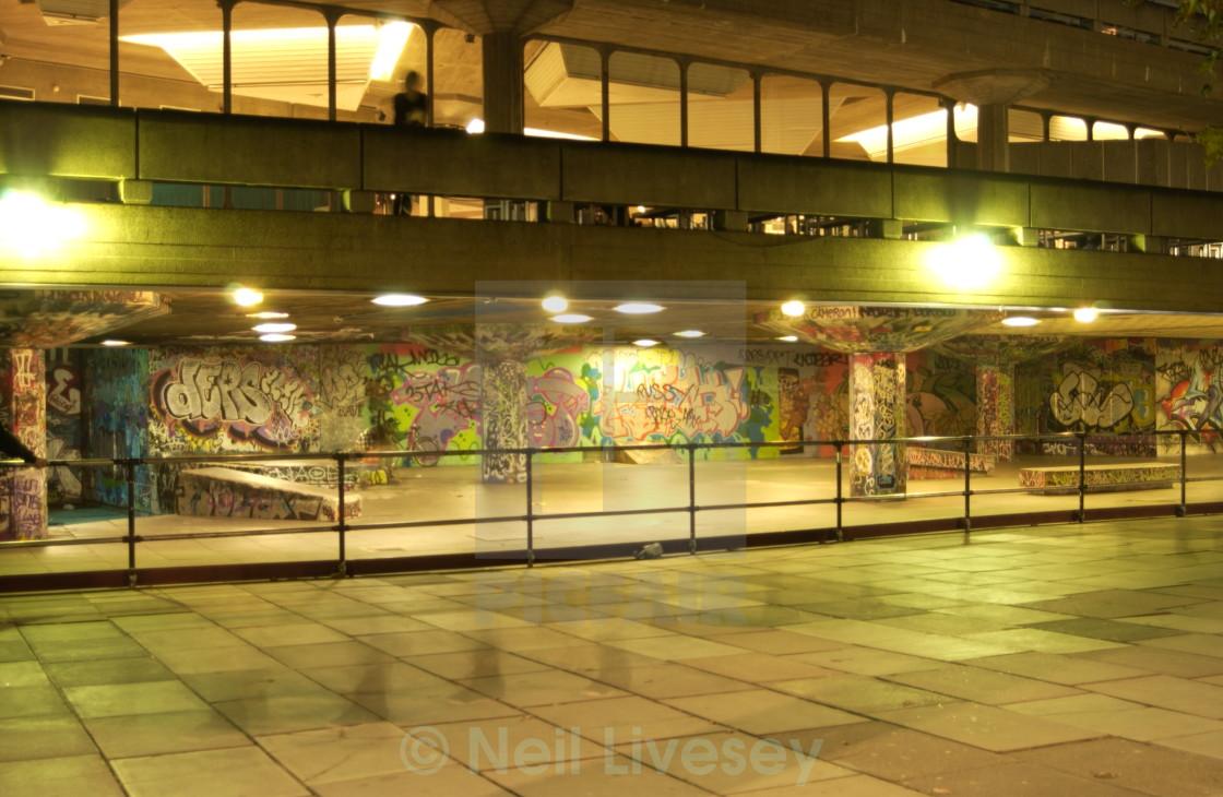 """""""Southbank Graffiti"""" stock image"""