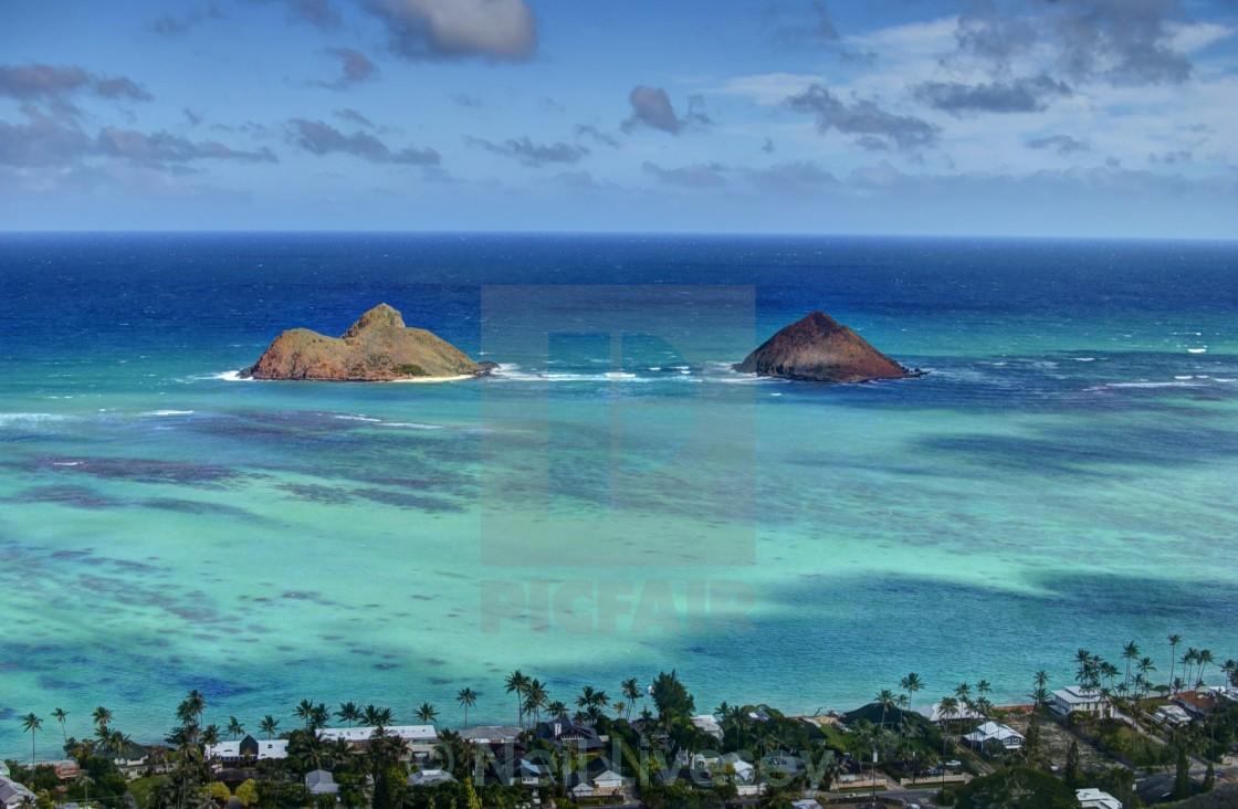 """Lanikai Pillbox Hike Hawaii"" stock image"
