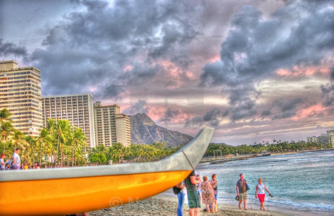 """Honolulu Beach"" stock image"