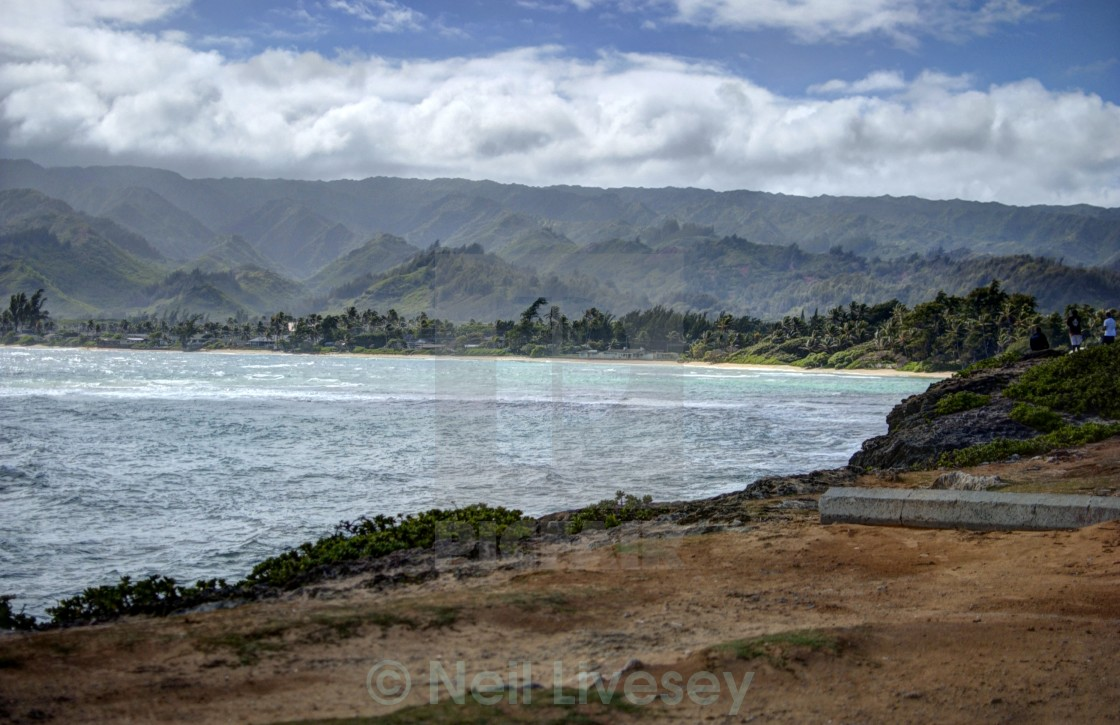 """Waialua Bay"" stock image"
