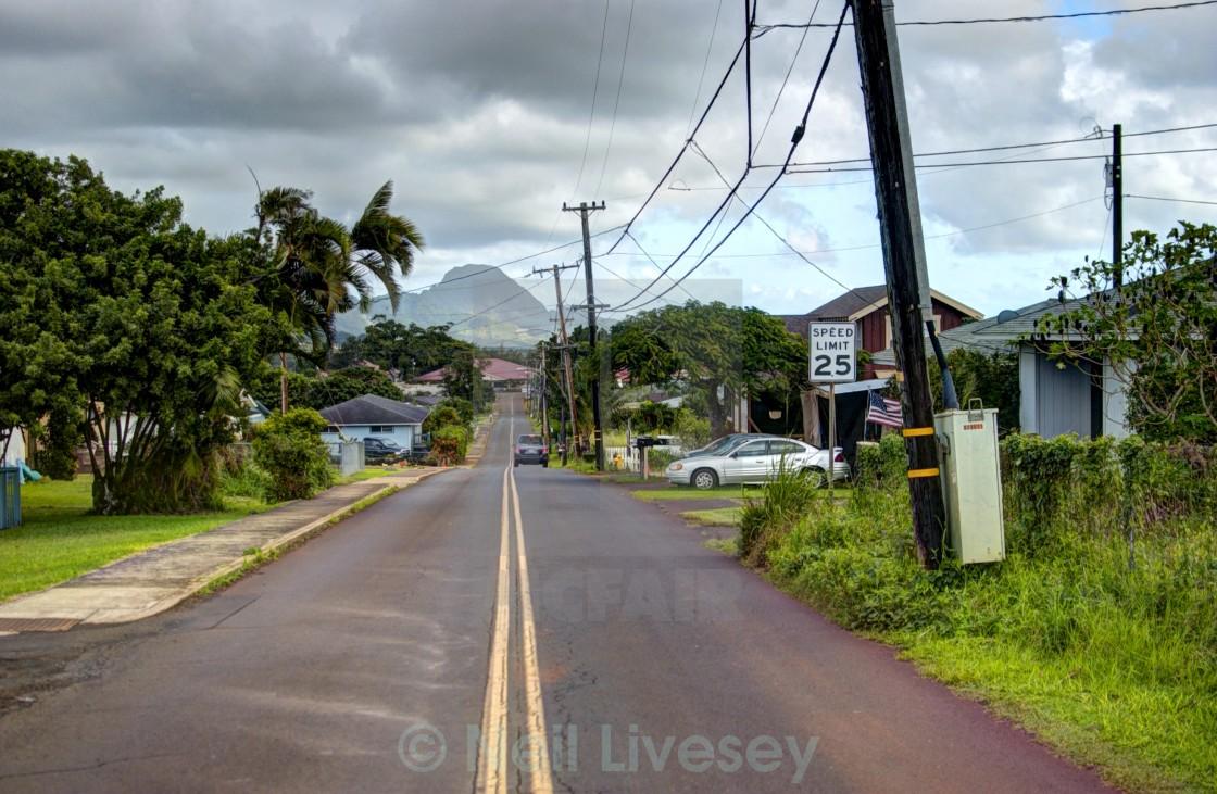 """""""Kalaheo, Kauai, Hawaii"""" stock image"""