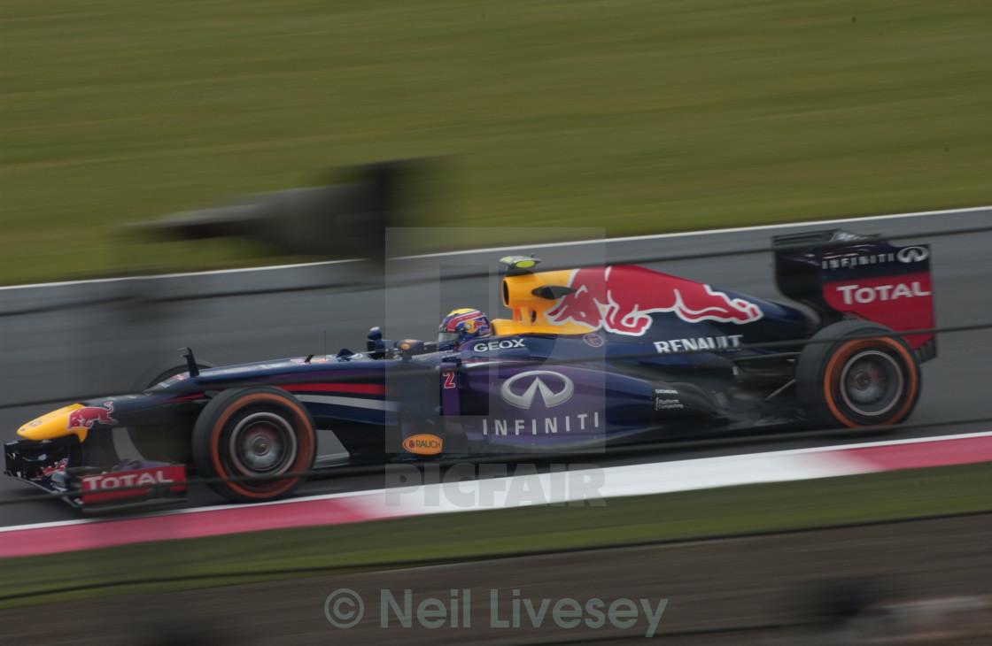 """Mark Webber FP2, Silverstone 2013"" stock image"