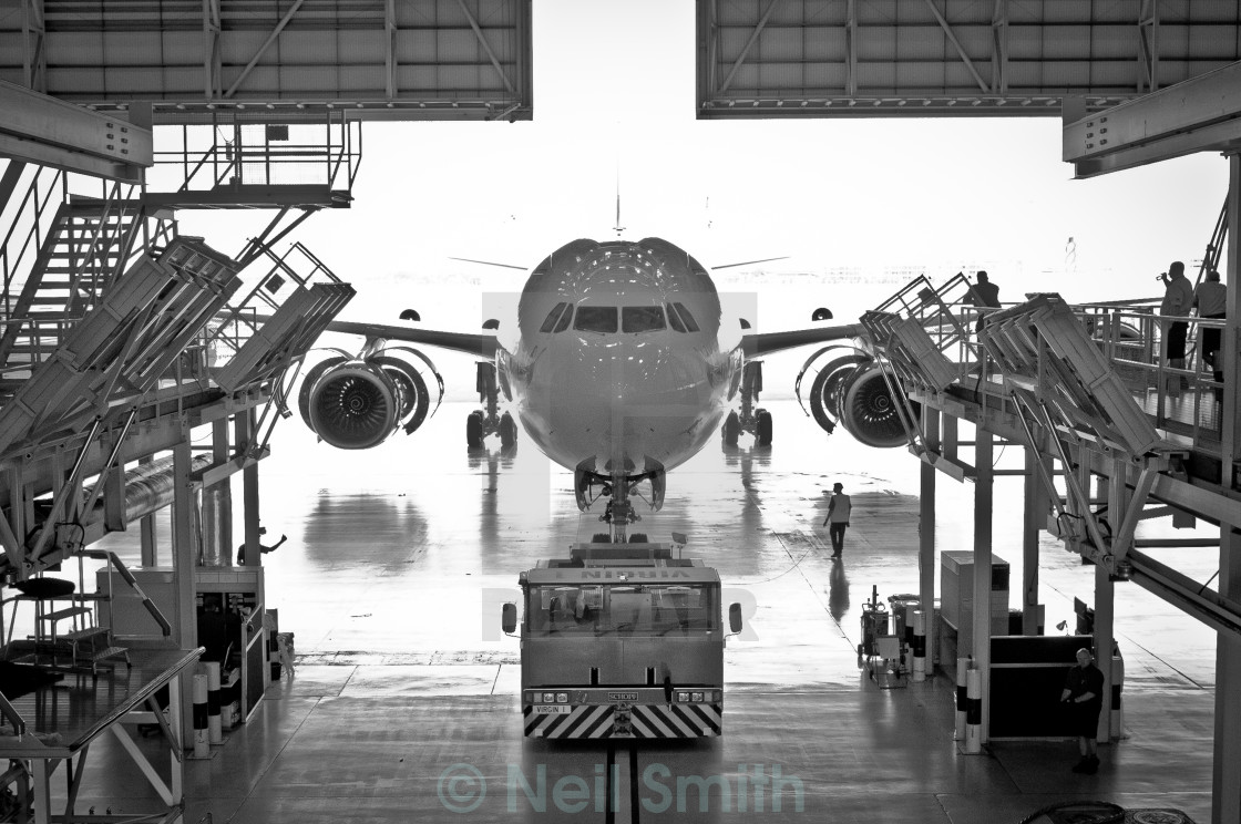 """""""A plane is maintained"""" stock image"""