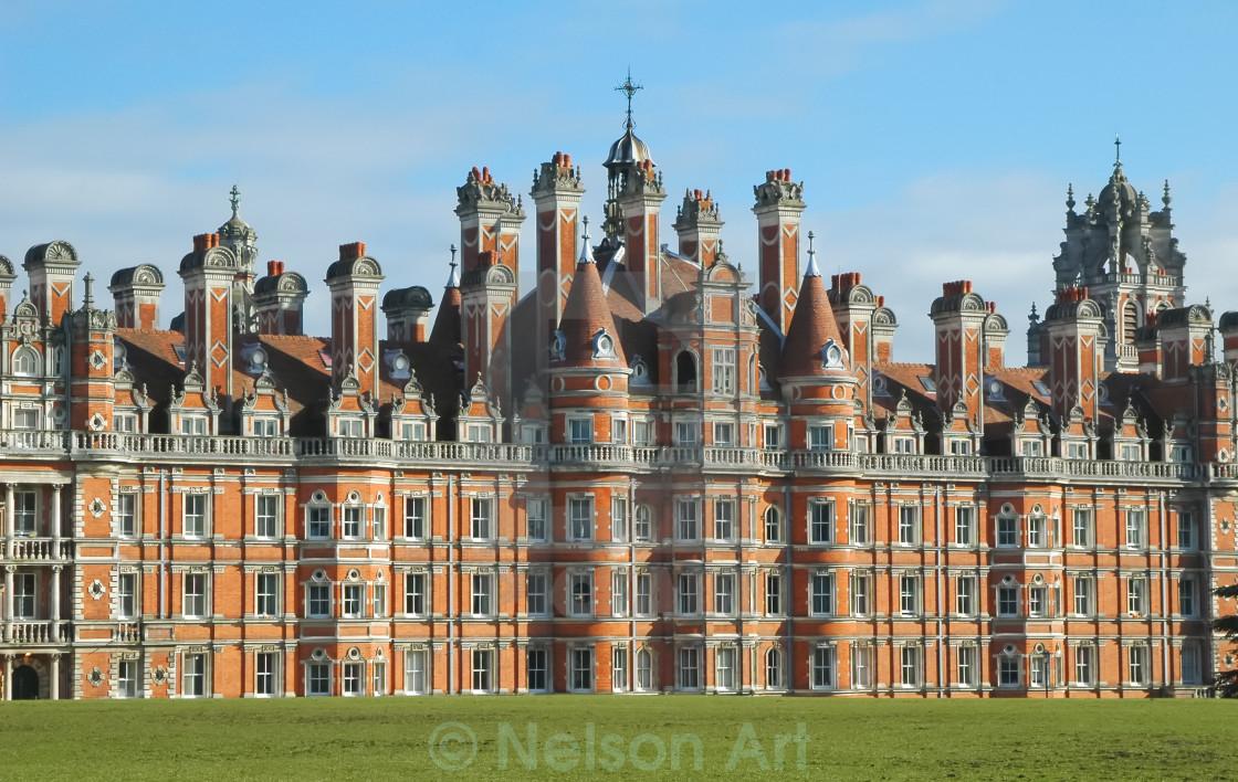 """royal holloway building"" stock image"