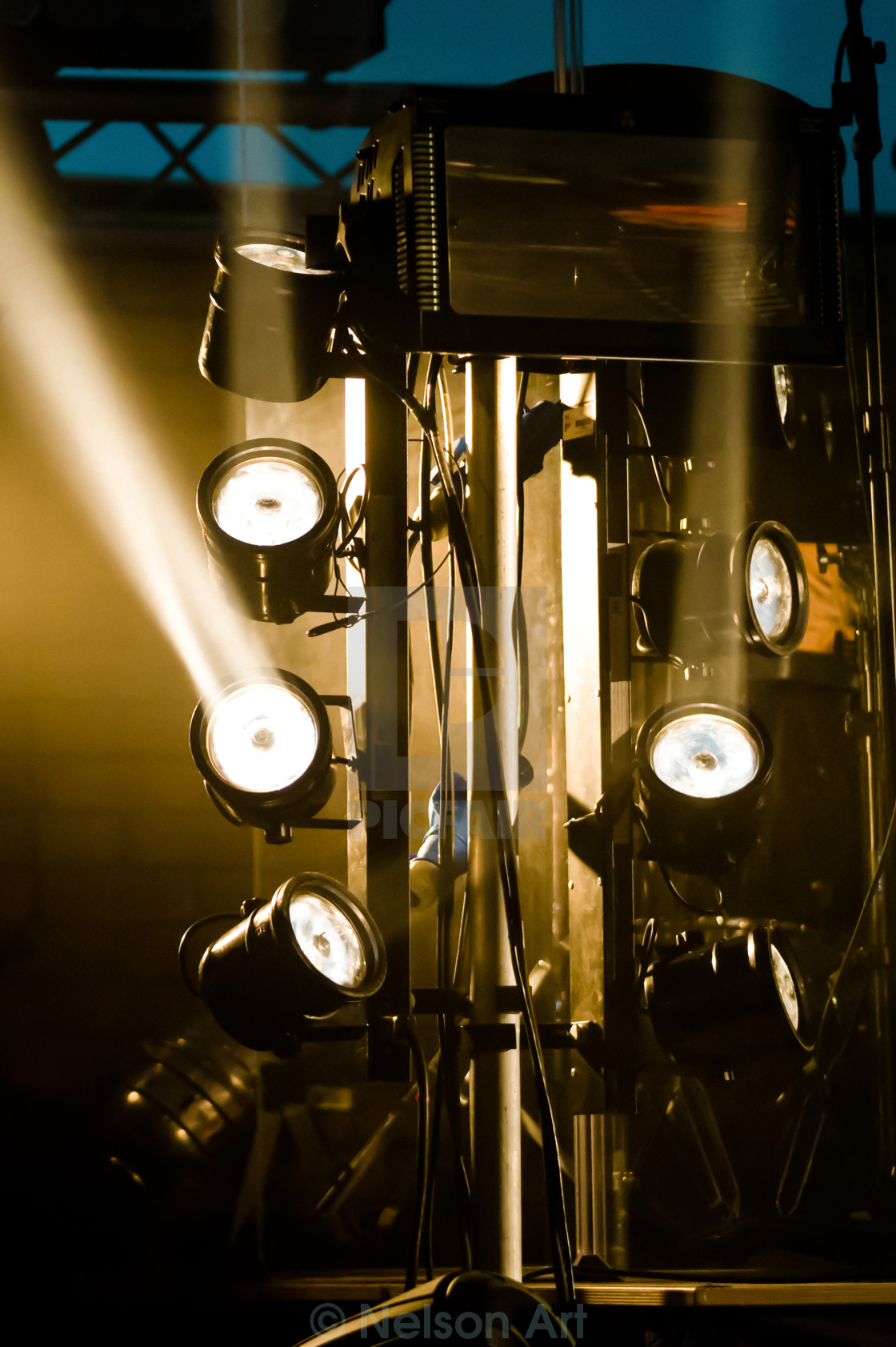 """""""stage lights"""" stock image"""