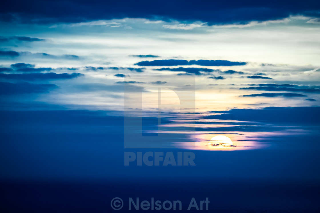 """""""distant sunset"""" stock image"""