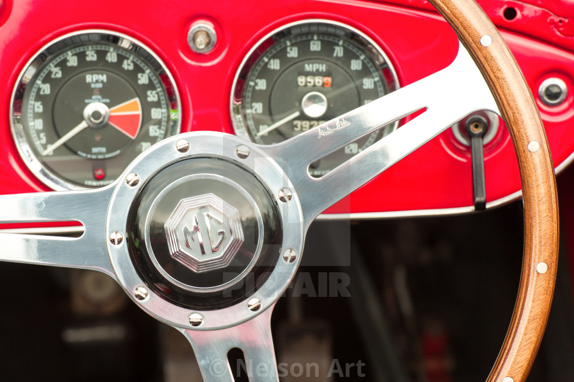 Vintage Mg Auto Steering Wheel License Download Or Print For 5 00 Photos Picfair