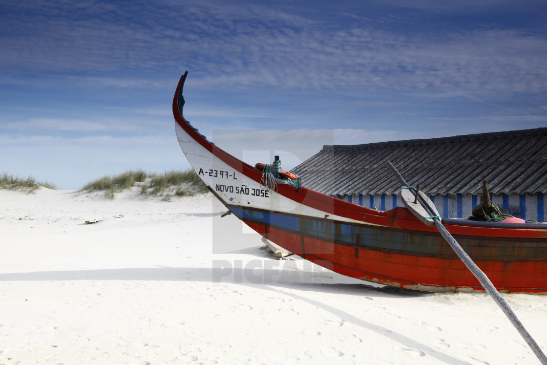 """""""Fishing boat in Portugal"""" stock image"""