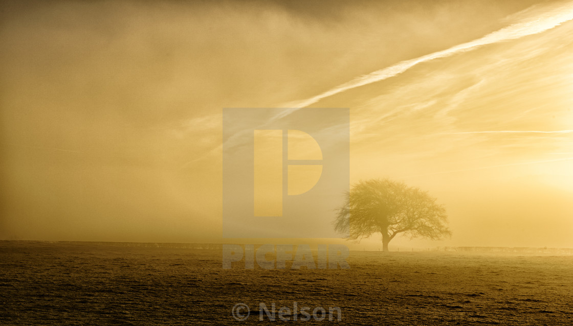 """Sunrise over Scotland"" stock image"