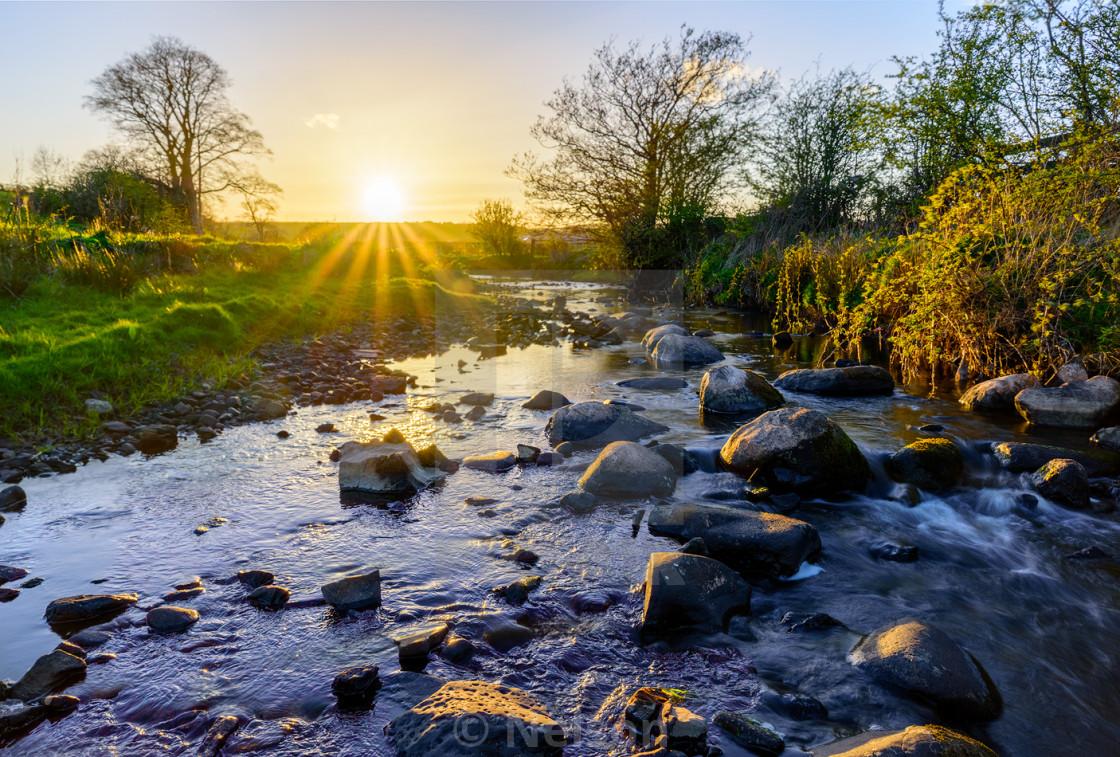 """Sunset river"" stock image"