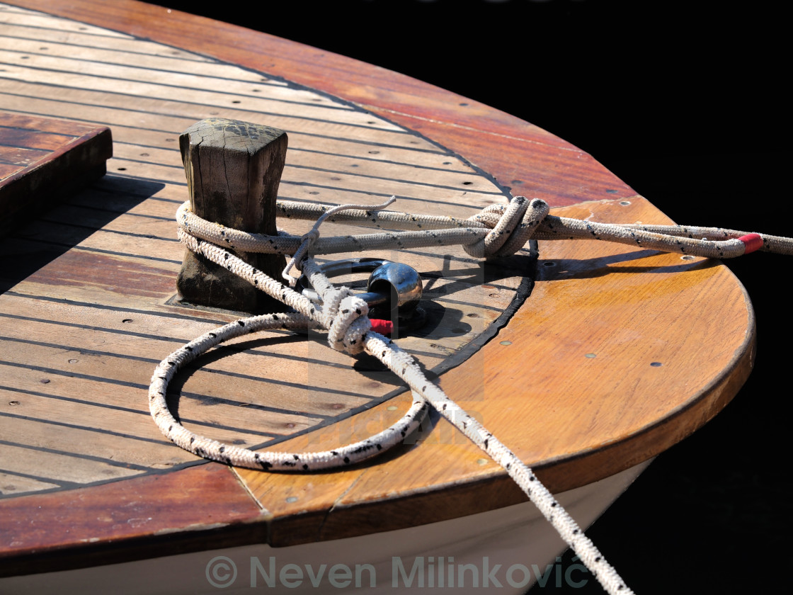 """""""ropes on the boat"""" stock image"""