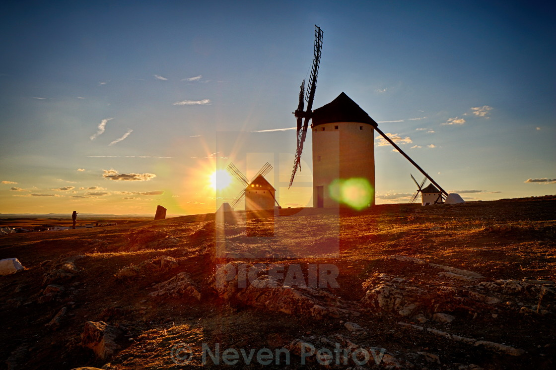 """Don Quixote wind mills"" stock image"