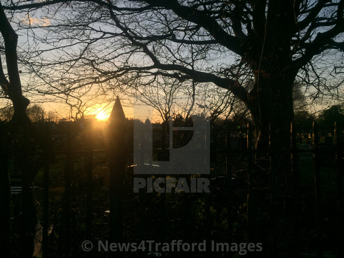 """Sunset Over Sale"" stock image"