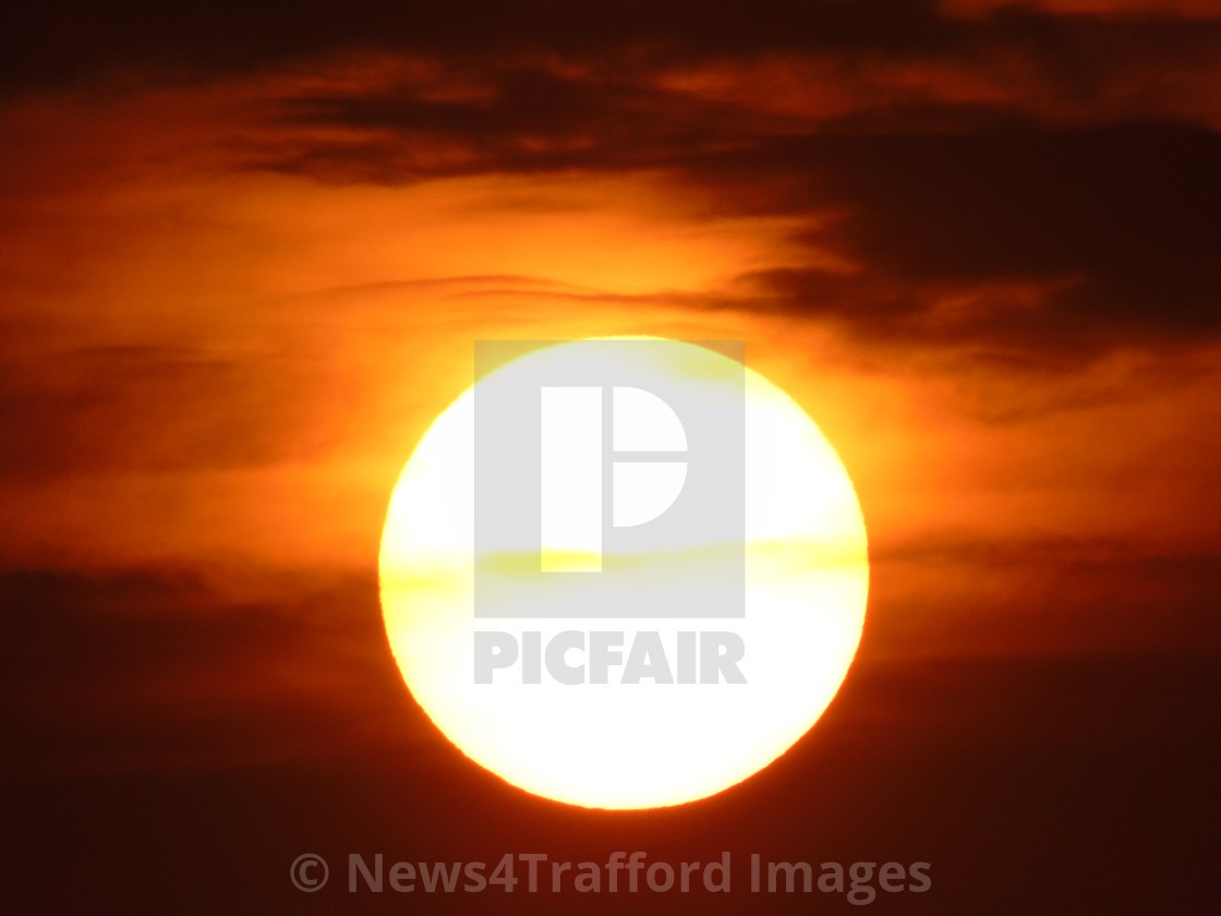 """The Sun At Full Range"" stock image"