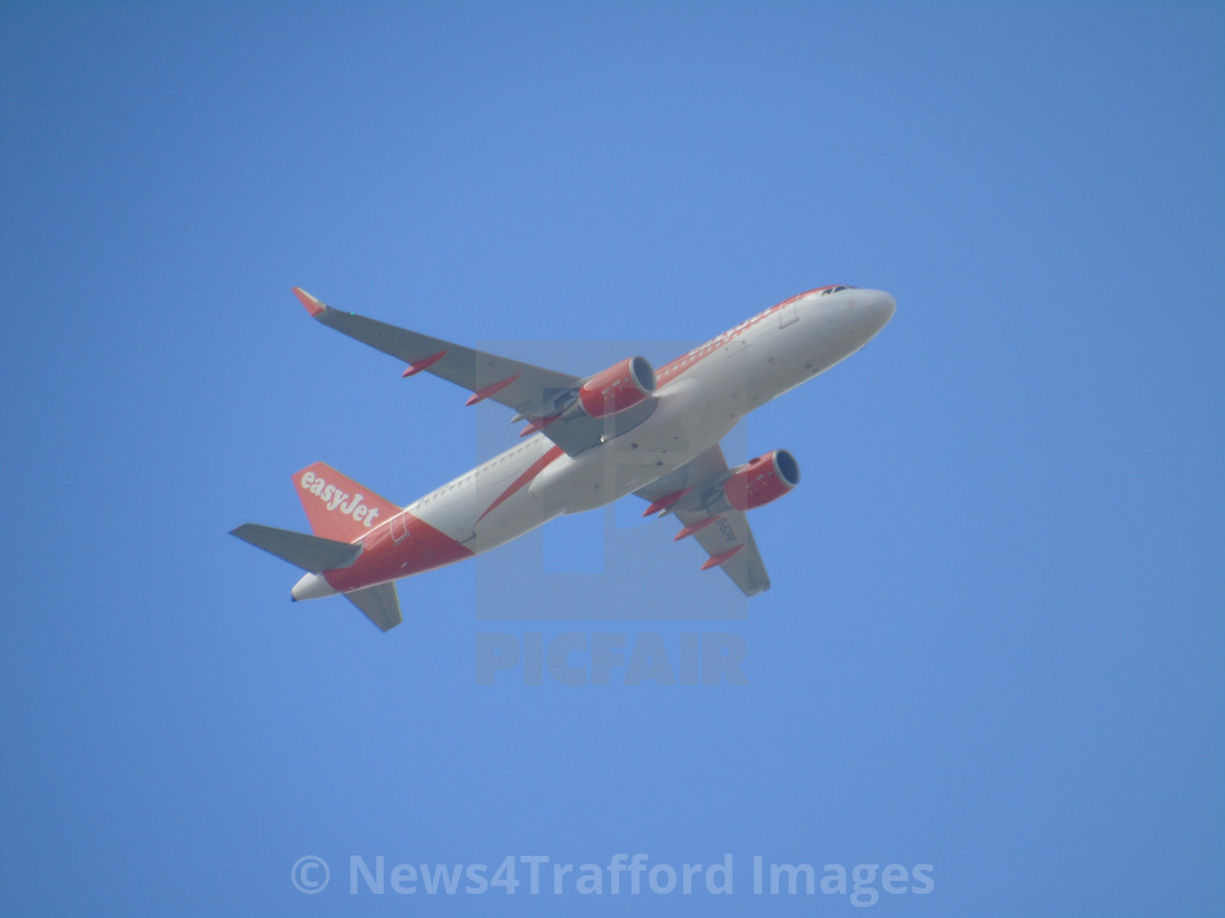 """""""Easy Jet Aircraft"""" stock image"""