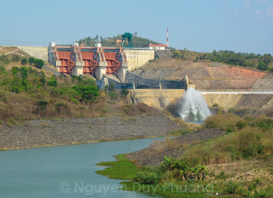 """Tri An hydropower plants in Vietnam"" stock image"