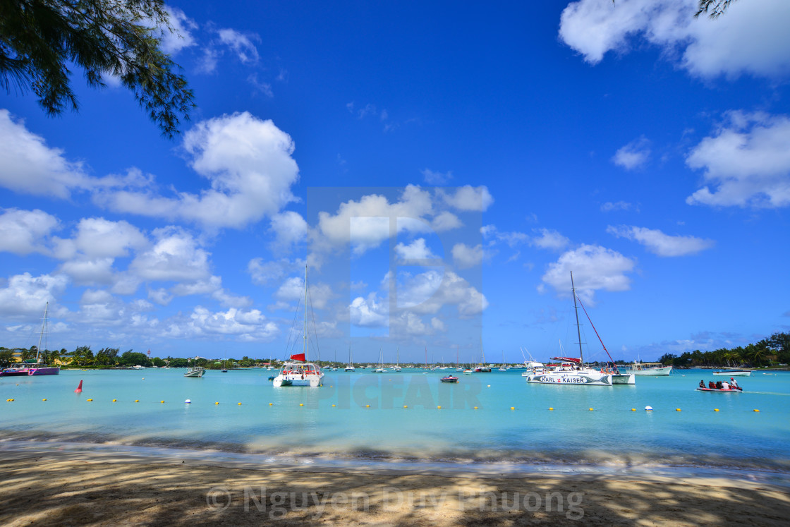 Seascape in Grand Baie, Mauritius - License, download or