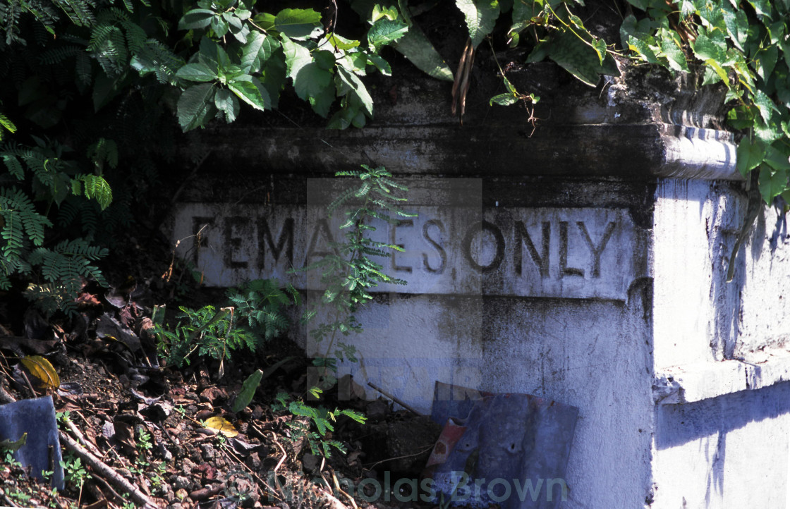 """""""Females only"""" stock image"""