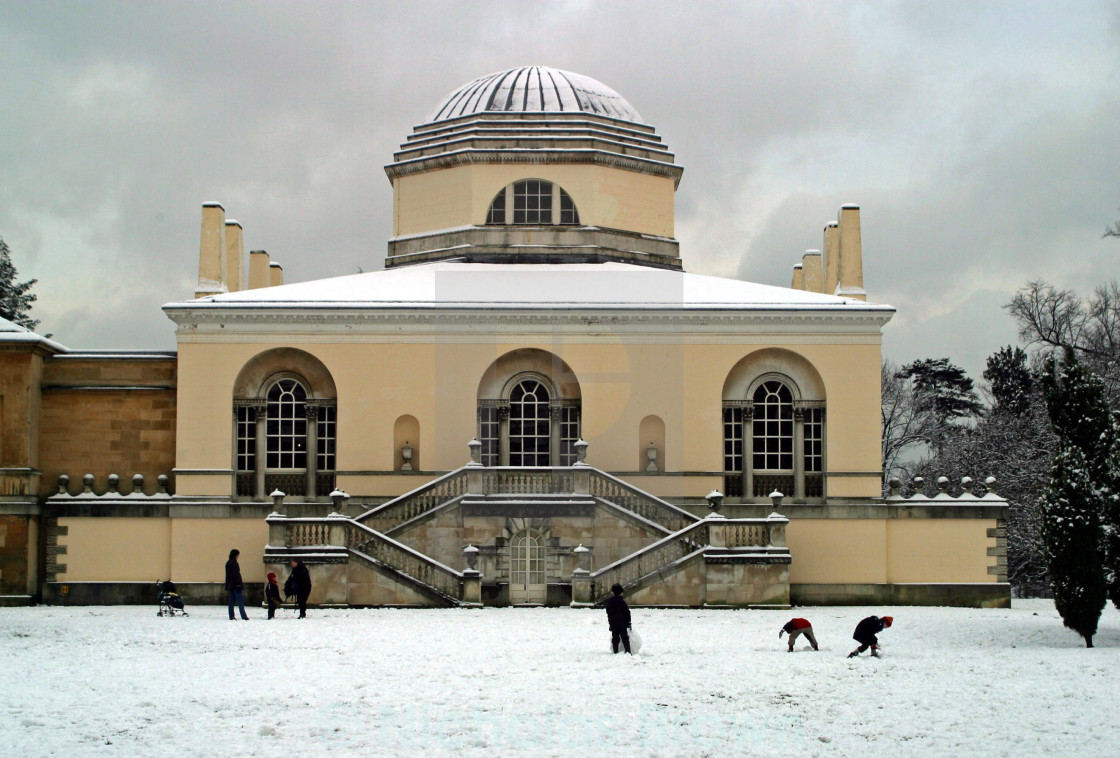 """Snow at Chiswick House"" stock image"