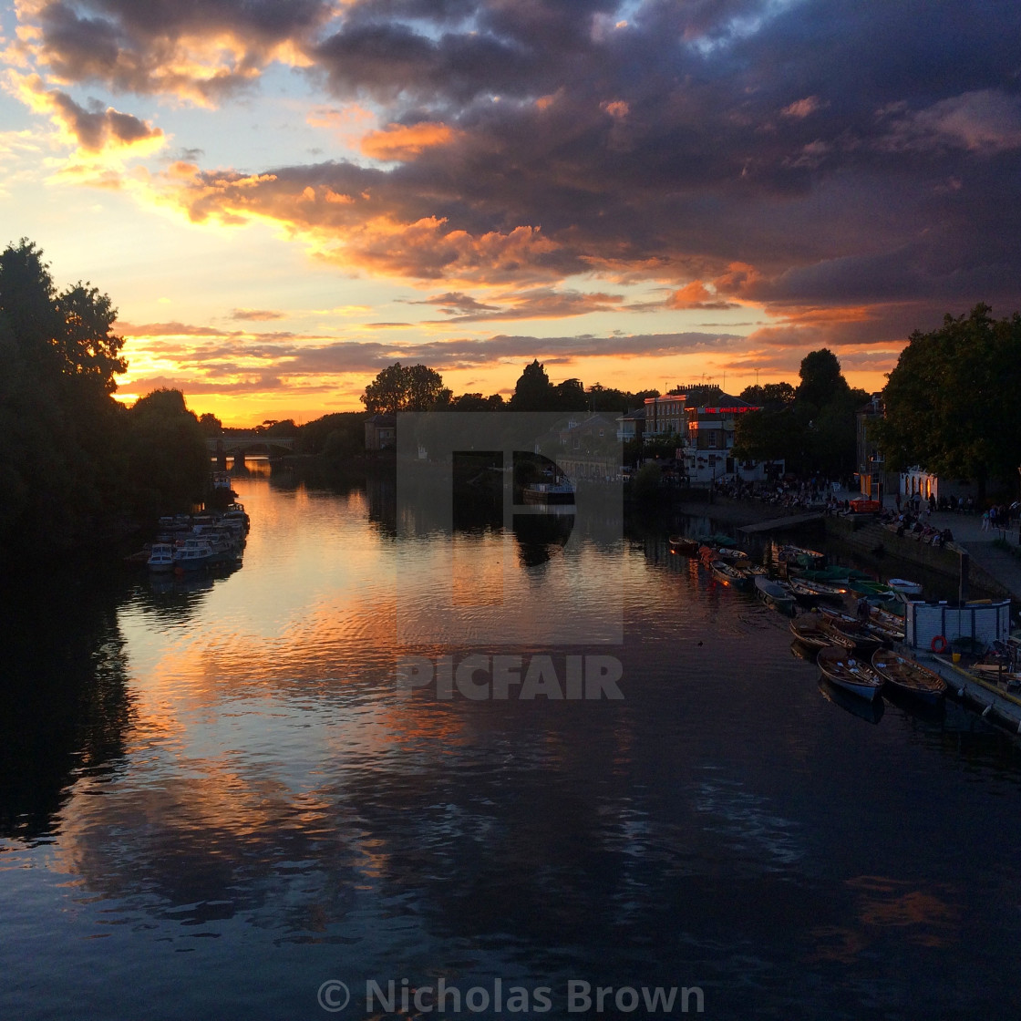 """Fading light - Richmond"" stock image"