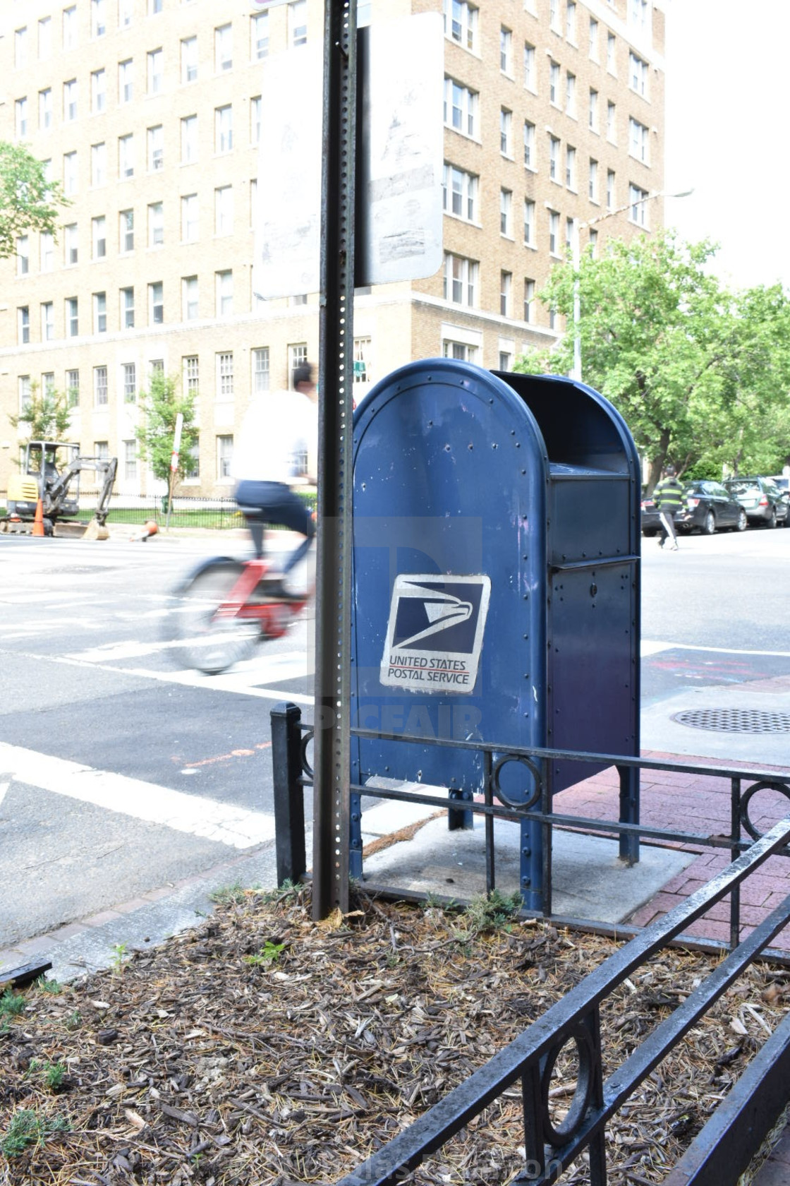 """Bike by Mail Drop"" stock image"