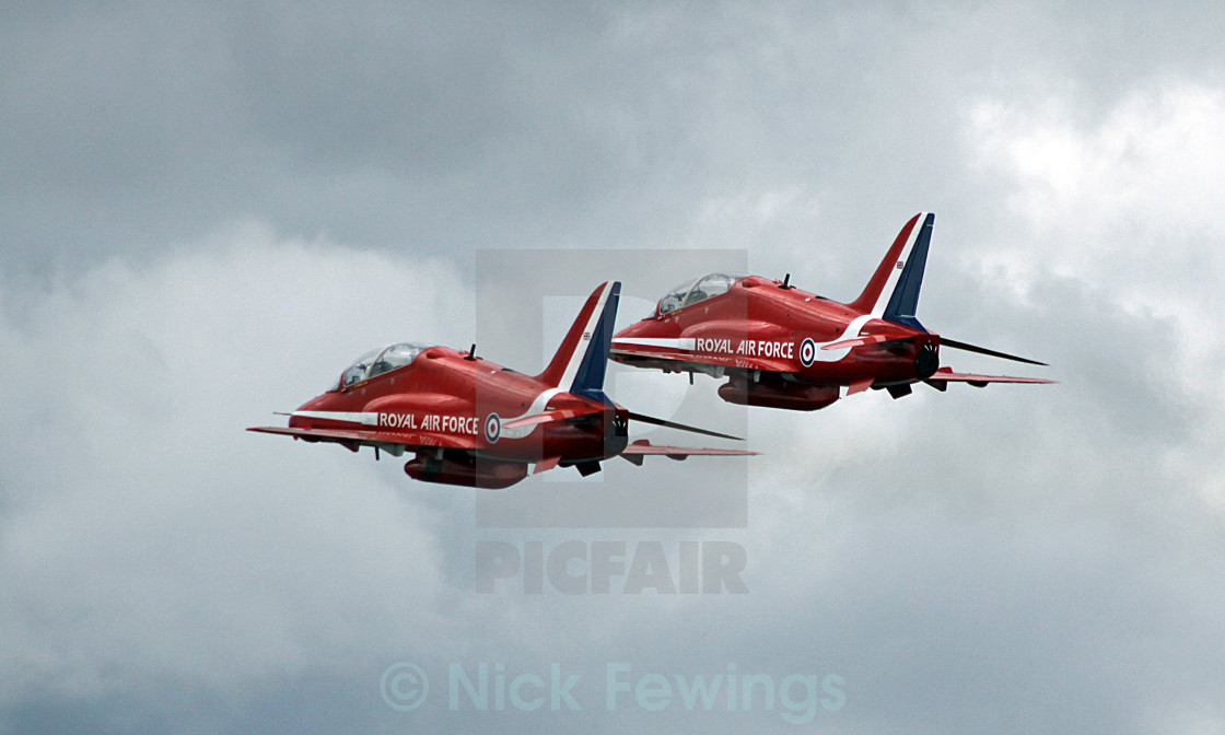 """Red Arrows Duet"" stock image"