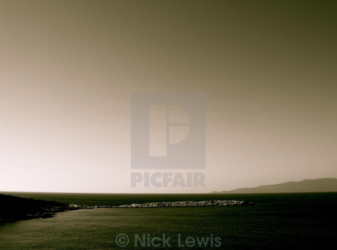 """Late Evening Seascape"" stock image"
