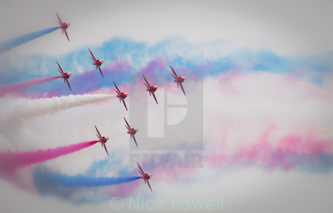 """""""The Red Arrows - Formation"""" stock image"""