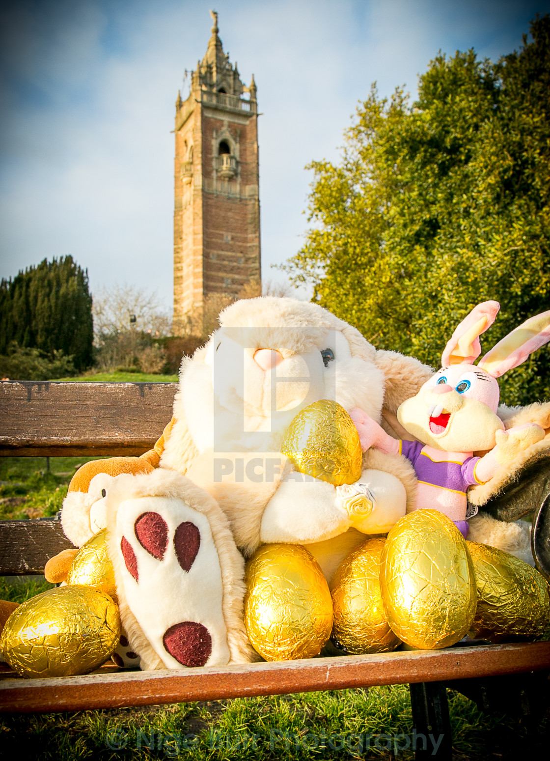 """""""Easter Bunny Eggs #1"""" stock image"""