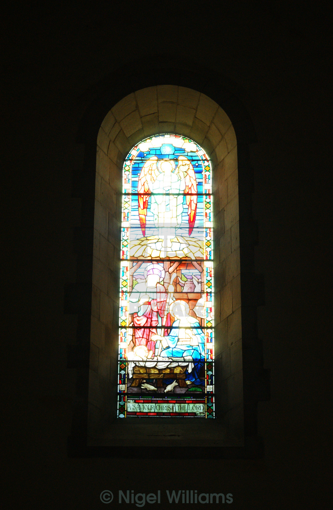 """Stained Glass Window"" stock image"