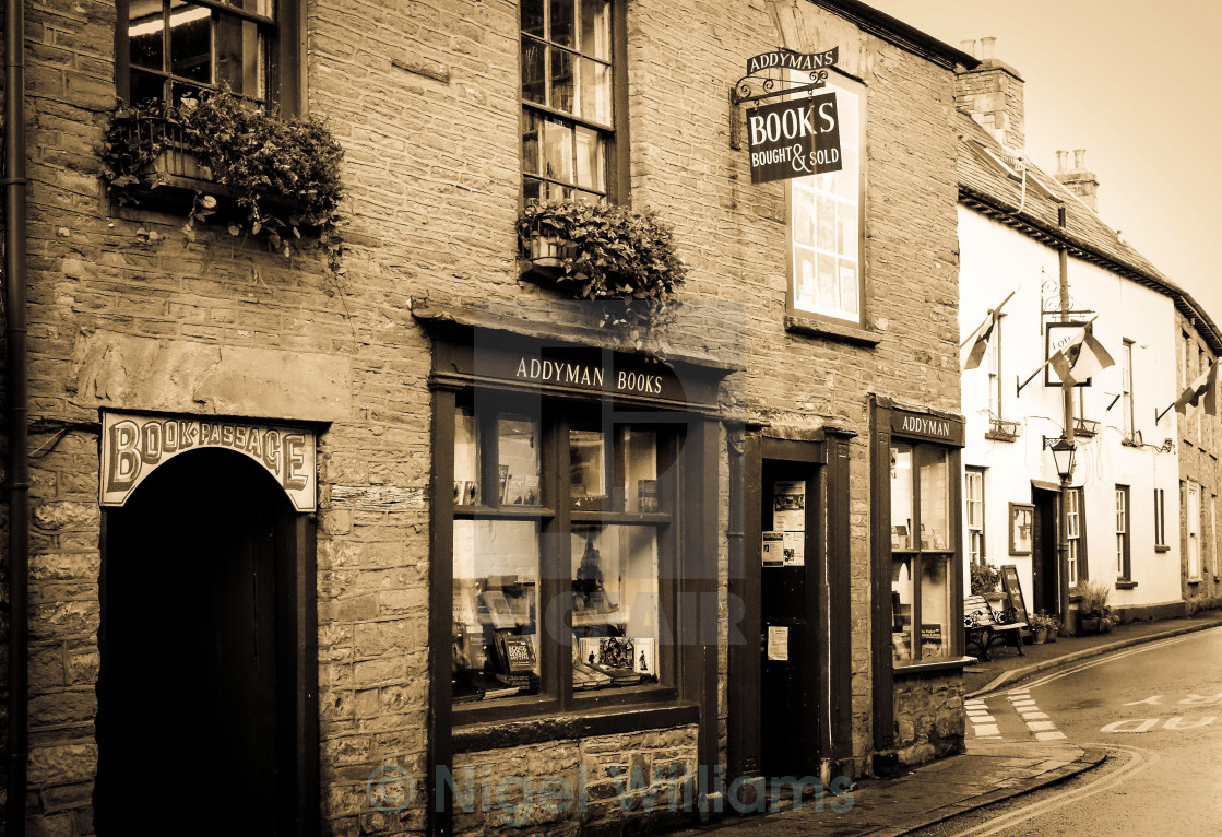 """Hay-on-Wye Bookshop"" stock image"