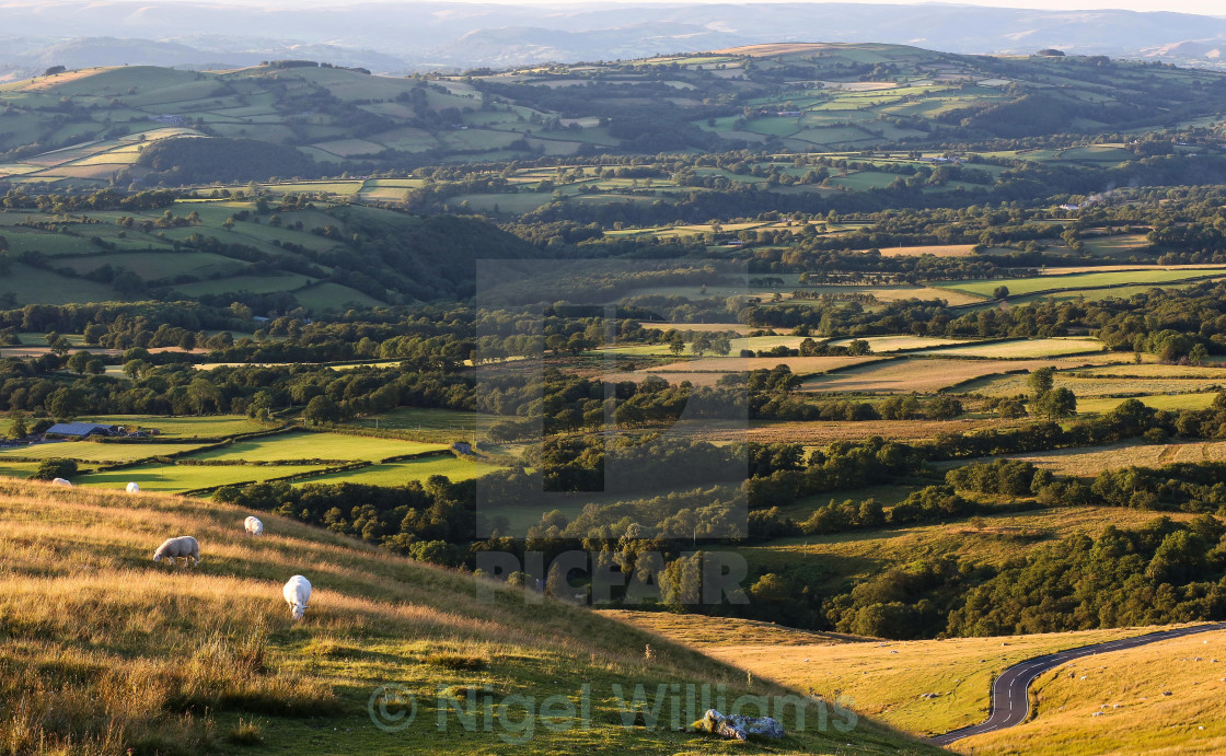 """The Black Mountains"" stock image"