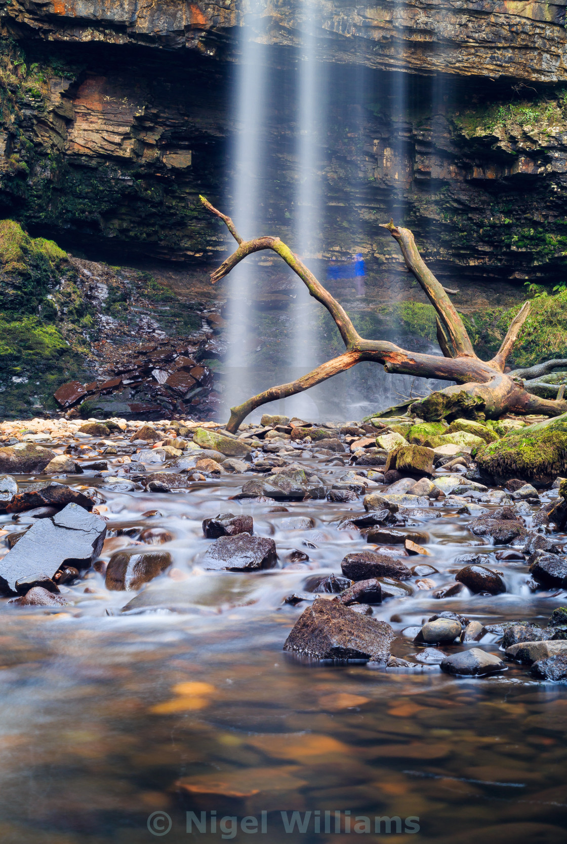 """Henrhyd Waterfall"" stock image"