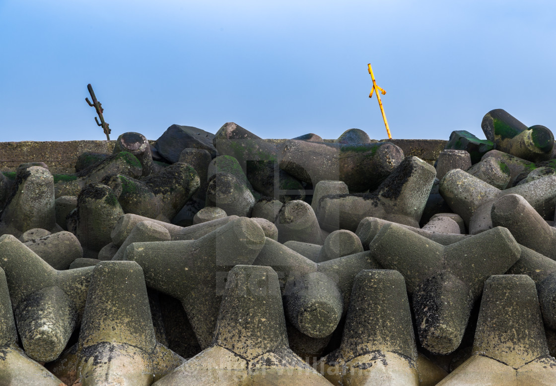 """Sea Defence"" stock image"