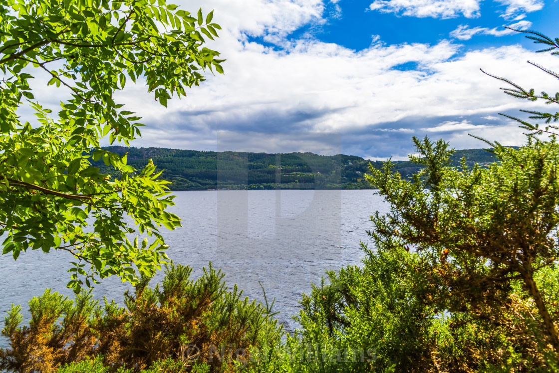 """View Across Loch Ness"" stock image"