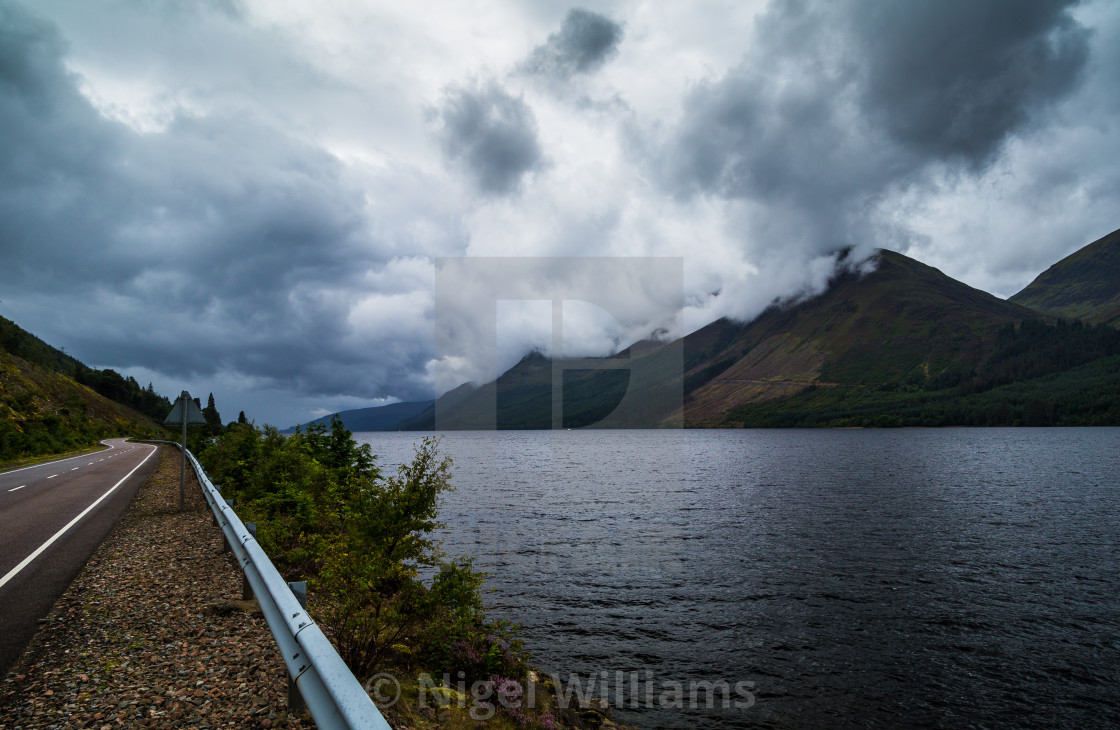 """Road Along the Loch"" stock image"