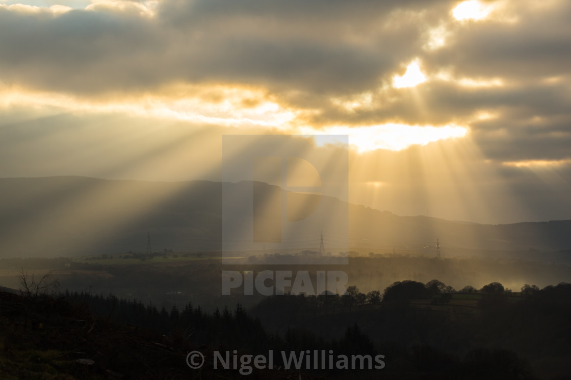 """Sunbeams"" stock image"