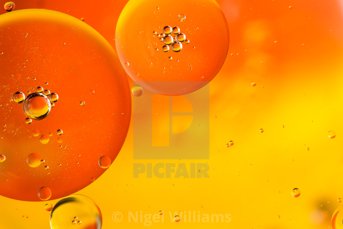 """Orange Bubbles"" stock image"