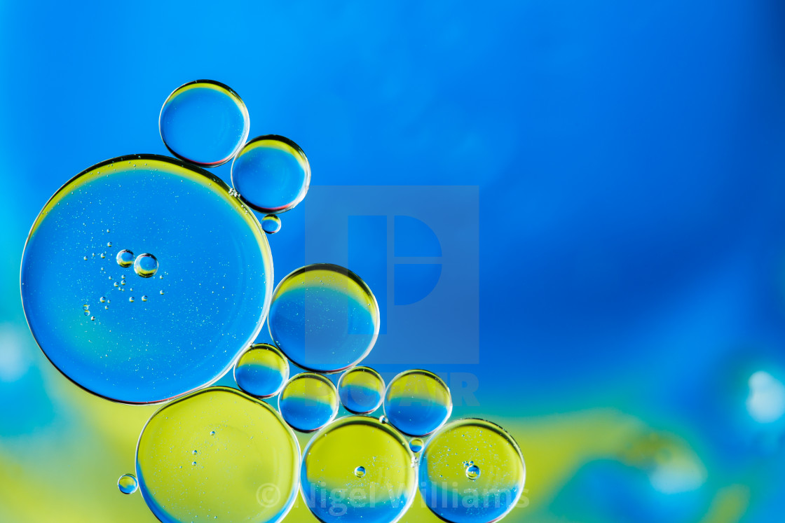 """Blue and Yellow Bubbles"" stock image"