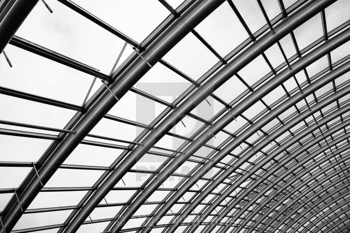"""Great Glasshouse Roof"" stock image"