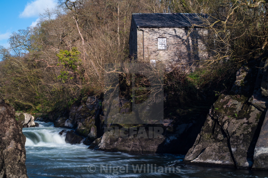 """Mill by the River"" stock image"