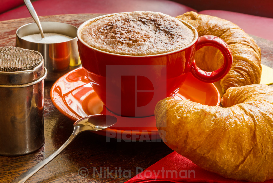 """Breakfast In A Café"" stock image"
