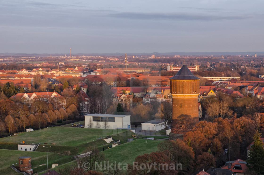 Old Water Tower In Leipzig