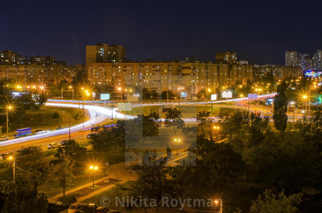 Kiev City Lights At Night