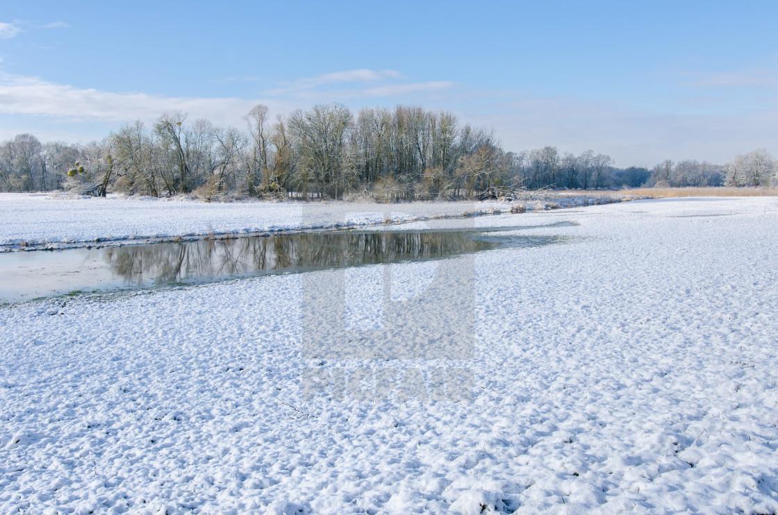 """Vast rural landscape in winter"" stock image"